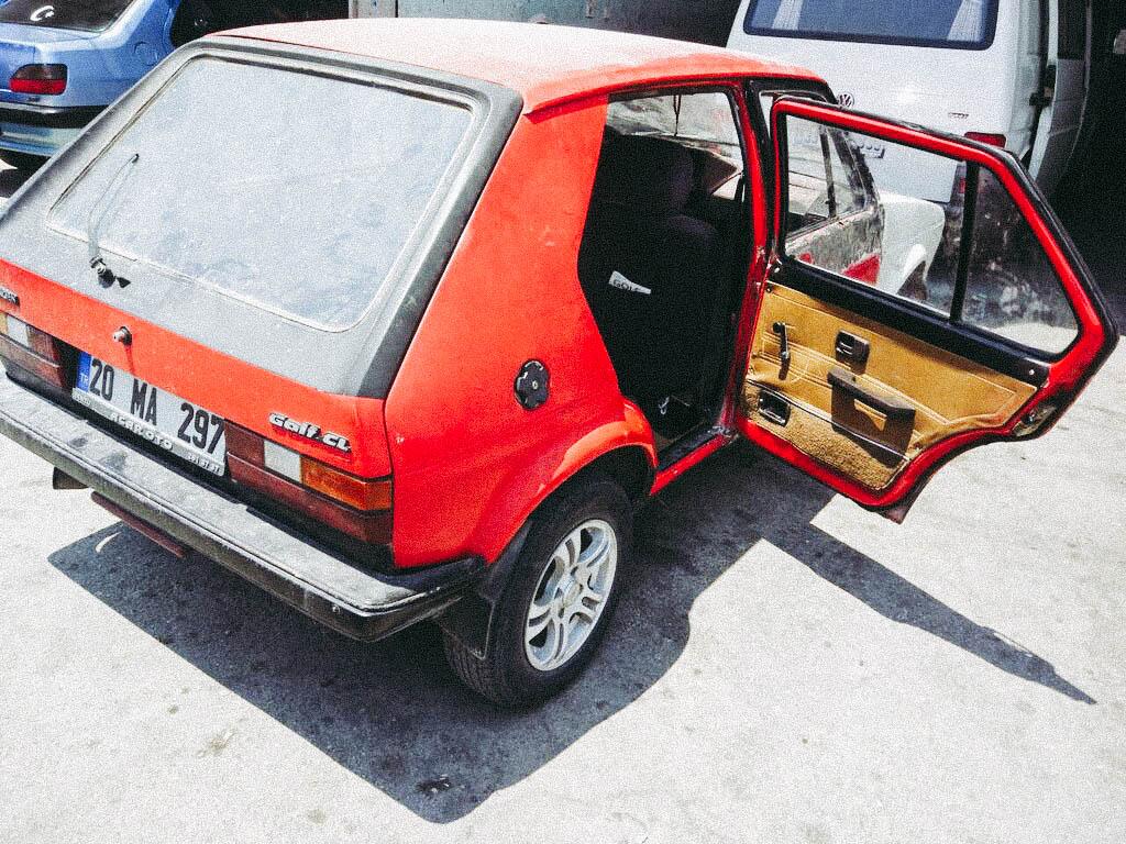 Golf 1 Mk sağ arka cam kriko